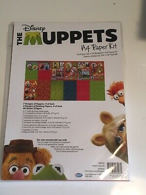 Disney A4 Paper Kit Muppets, Backgrounds, Die Cut character Sheets Ect