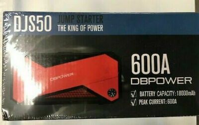 DBPOWER 600A Peak 18000mAh Portable Car Jump Starter DJS50 External Battery