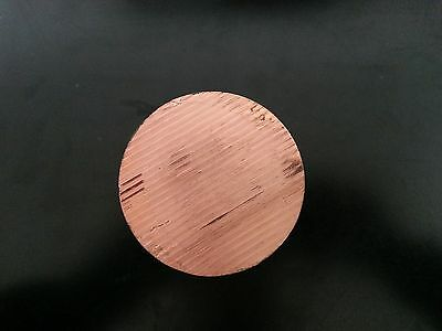 "Copper Round Disc 2"" Dia 1/4"" Thick"