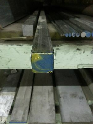 """Stainless Steel Square Bar Stock Type 304 1"""" x 24"""" Long"""