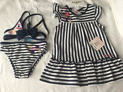 cdc39c1b7494a LOT OF TWO Juicy Couture Beach Baby Cover Up Dress Infants Size 18 ...