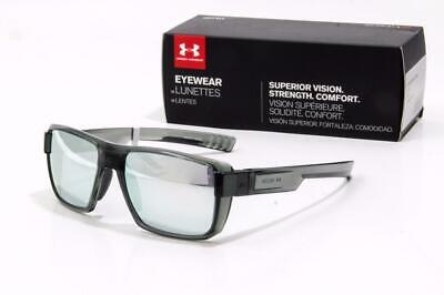 1fe79ab6545c NEW UNDER ARMOUR RECON SUNGLASSES Shiny Crystal Clear frame / Chrome Mirror  lens
