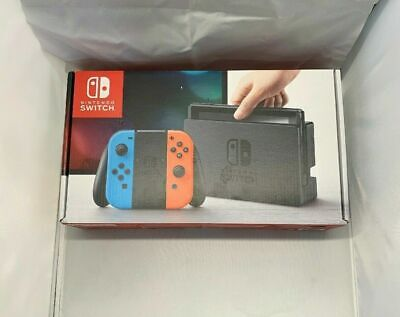 Nintendo Switch 32GB Gray Console with Neon Red and Neon Blue Joy-Cons