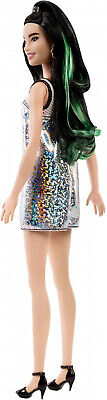 Fashionistas Doll, Tall Body Type with Silver Jersey Dress