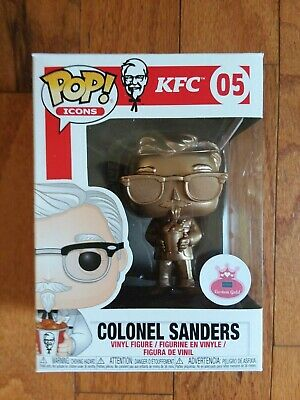 "Funko Pop Icons~Kfc # 05 ""Colonel Sanders"" ~Metallic Gold Pop"