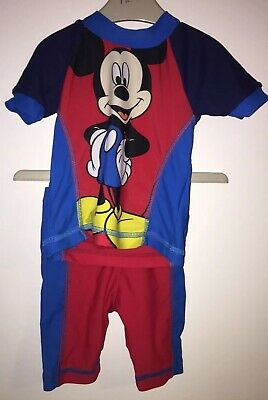 Boys Age 3-6 Months - UV Sun Protection Set / Swimming - Mickey Mouse