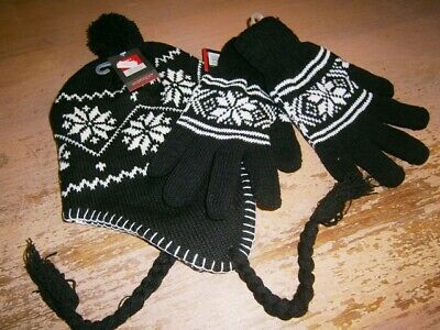 1 Norway/Inca style winter set GLOVES & HAT - Made in Germany - VEGAN clothings