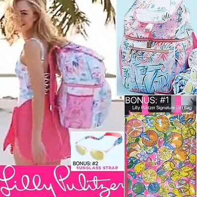 314978d3e05688 NWT Lilly Pulitzer Cooler Backpack & Sunglass Strap Sea To Shining Sea +  BONUSES