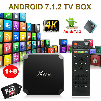 X96 MINI S905W 1+8GB 2+16G Android 7 1 2 Nougat 4K Quad Core