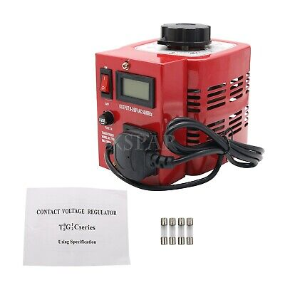 220V APS-500W Variac Variable Transformer Voltage Regulator Powerstat 0-250V X-
