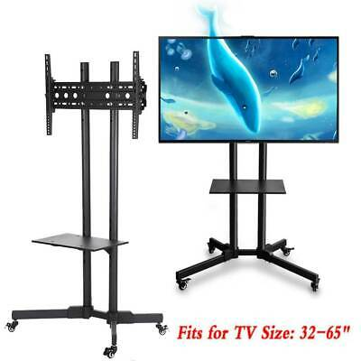 "Mobile TV Cart Floor Stand Mount Home Display Trolley for 32""-65"" Plasma/LCD/LED"