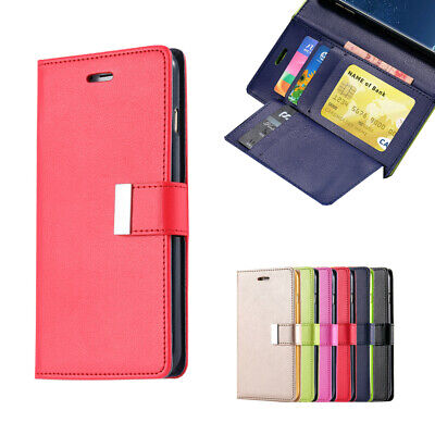 For Samsung Galaxy S9 S8 Plus S7 edge Wallet Leather Case Flip Card Soft Cover