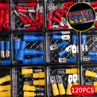 Assorted Terminal Crimp Insulated Car Electrical Wire Connector Spade Set.