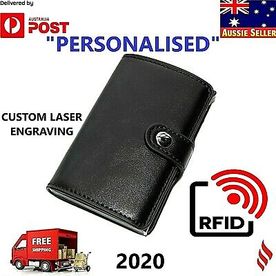 2019 New Credit Card Holder Leather RFID Blocking Wallet Purse *PERSONALISED*