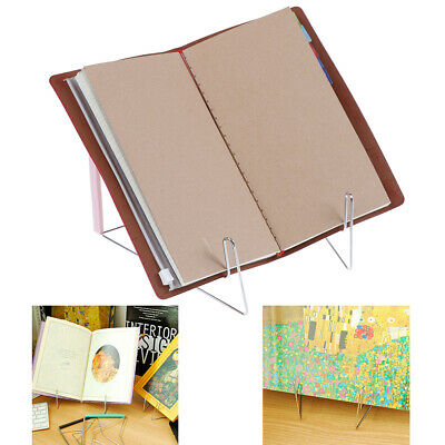 Hands Free Folding Tablet Book Reading Holder Stand Bracket StainlessSteelRackDZ