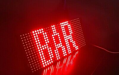 Bright Red Usb Led Bar Sign Open Shop Home Garden Drink Neon Hang Display Window