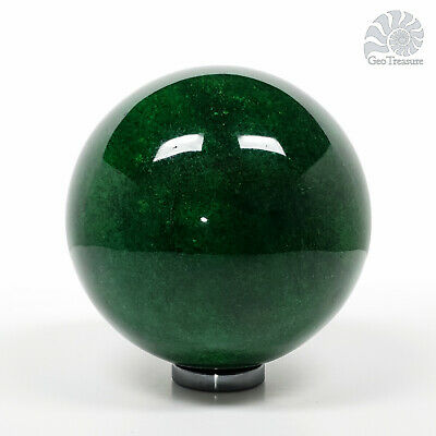 Green Apatite Gemstone Crystal Sphere Ball Polished Reiki Chakra Healing 8cm