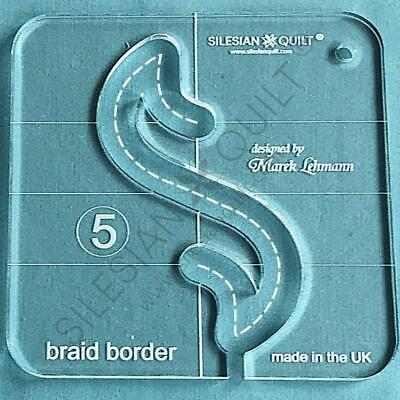 Template for quilting - Braid Border series 5 (template fits to FMQ Grip5)