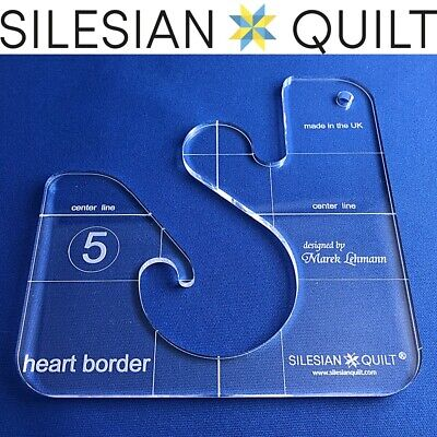 Template for quilting - Heart Border series 5 (template fits to FMQ Grip5)
