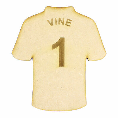 Personalised Football Shirt - 3mm MDF Sport Top card craft embellishment topper
