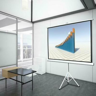 "HD 100"" Projector 4:3 Projection Screen 1.1 Gain Pull Up Portable Tripod US"
