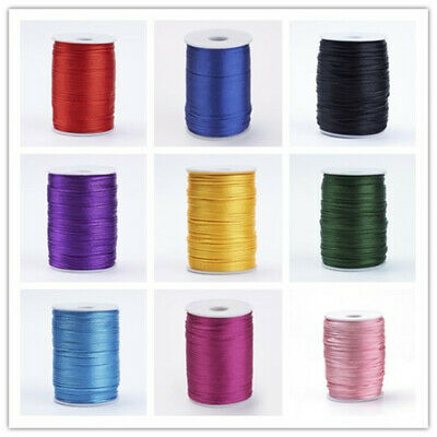 80yards/Roll Waxed Polyester Cord Thread Jewelry Making Findings 14 Colors