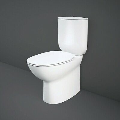 RAK Morning Rimless Back to Wall Close Coupled Toilet 640mm Soft Close Seat