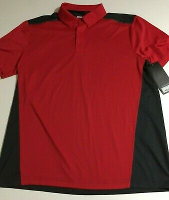 cc4c0366 MSX by Michael Strahan Mens Large Red Short Sleeve Polo Shirt NWT Quick Dri