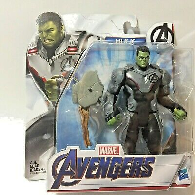 Marvel AVENGERS ENDGAME MCU Deluxe HULK Team Suit 6in Action Figure NEW