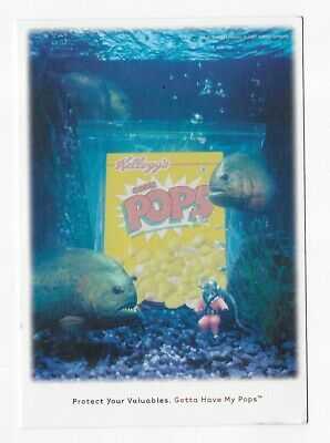 Advertising Postcard: Protect Your Valuables. Gotta Have My Corn Pops Piranha