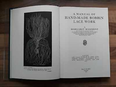 HAND MADE BOBBIN LACE WORK Book by Margaret Maidment