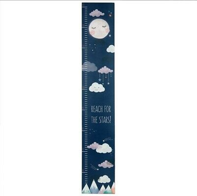 Reach For The Stars Wooden Height Chart. Children's  Kids. Bedroom  Moon and Sta