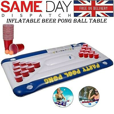Inflatable Air Mattress Bed Beer Pong Game Pool Table Party Kids Swimming Pool