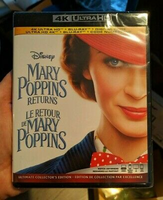 Mary Poppins Returns (Blu-ray + 4K UHD) BRAND NEW!!