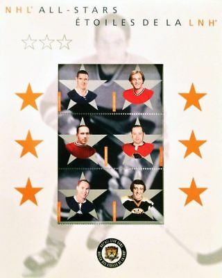 Canada stamp 2002 NHL Alumni All-Star Stamp Set #1935 Full Pane of 6 in Cover