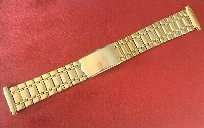 ARMIS/BRACELET WATCH GOLD PLATED TYPE OMEGA CONSTELLATION REGULABLE 16.mm-22.mm