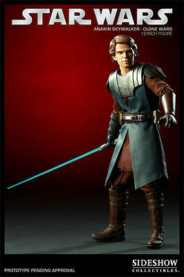 General Anakin Skywalker~Clone Wars~Sixth Scale Figure~Le 1500~Sideshow~Mib