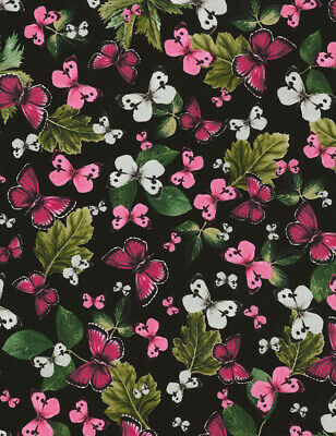 Timeless Treasures Butterflies /& Leaves Cream 100/% cotton fabric by the yard
