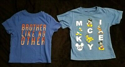 34da487d Lot 2 Toddler Boys Shirts Tee 2t Short Sleeve Old Navy Mickey Mouse Disney  Blue