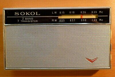 Radio transistor (made in USSR - 1969) SOKOL with ALL accessories TSF works mint