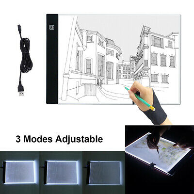 A3 A4 LED Ultra Slim Art Craft Copy Drawing Tracing Tattoo Light Box Pad Board