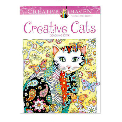 Creative Haven Creative Cats Coloring Books For Adults 24pages Stress Relieving