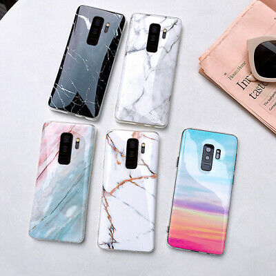 Antichoc Type Glossy Granite Marbre TPU Souple Phone Coque Pour Huawei P30 Lite