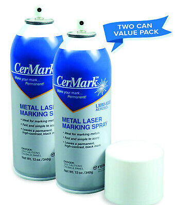 * CerMark LMM-6000 Metal Marking Spray - Black - 12oz - TWO CAN VALUE PACK