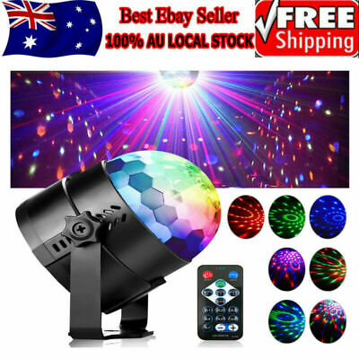 7 Colors Disco Party DJ LED RGB Stage Effect Light Lamp Laser Crystal Magic Ball