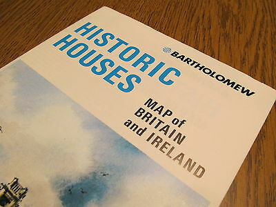 BARTHOLOMEW HISTORIC HOUSES MAP OF BRITAIN AND IRELAND/posters/wall hangings/UK