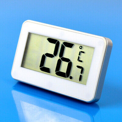 White LCD Digital Electronic Hook Hanging Thermometer For Indoor Fridge Freezer