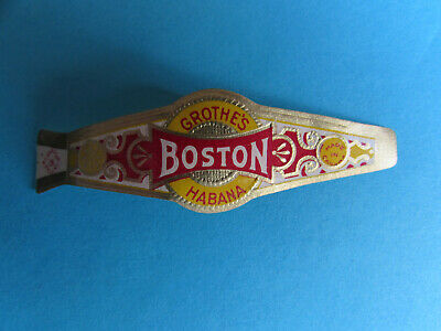 Boston Grothe's Habana Company Band Label Vintage Tobacco Ring Made in Canada