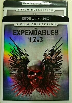 Expendables Trilogy 3 Film Collection 4K Blu-Ray NEW Ultra HD 1 2 3 Slipcover
