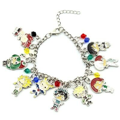 1pcs Anime My Hero Academia Retro Chain Charm Bracelet Metal US Stock
